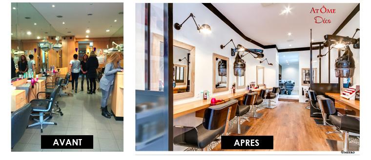 La m tamorphose d 39 un salon de coiffure gr ce une d coratrice d 39 int - Decoration interieur salon de coiffure ...
