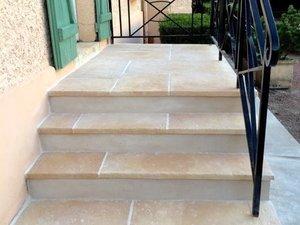 Escalier en pierres - Après rénovation