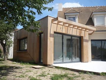 Extension en bois dans les Yvelines