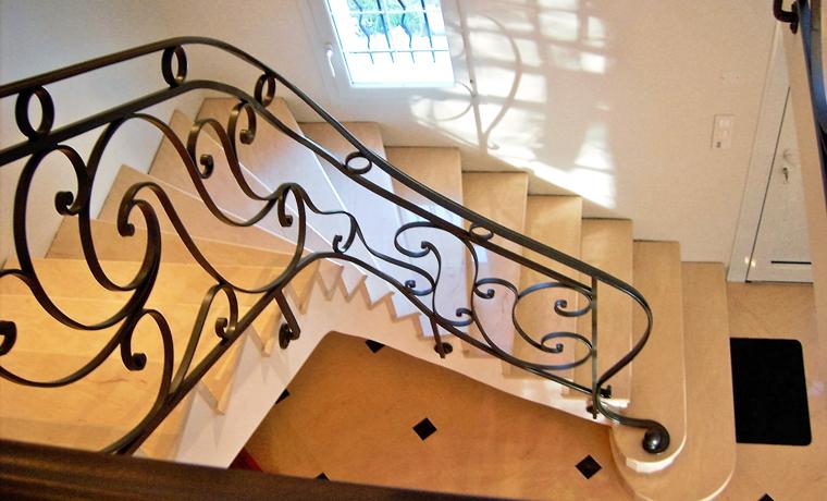 Escalier intérieur en fer forgé en Eure-et-Loir 28