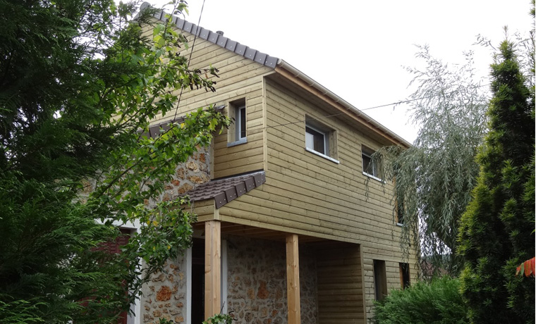 une extension en ossature bois pleine de charme en vall e de chevreuse respire habitat la. Black Bedroom Furniture Sets. Home Design Ideas