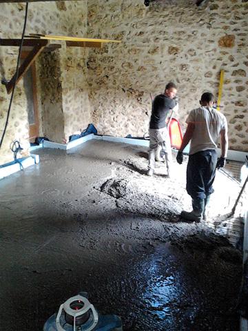 Rénovation du plancher bas