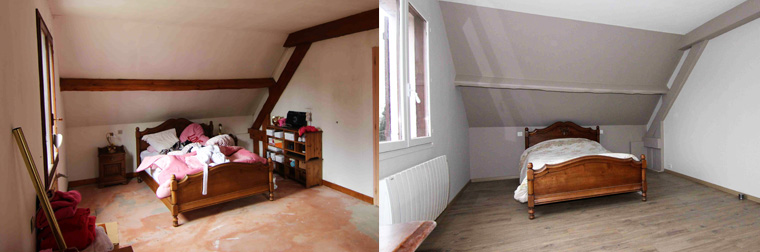 Rénovation d'une chambre dans les Yvelines