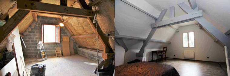 Rénovation isolation sous les toits