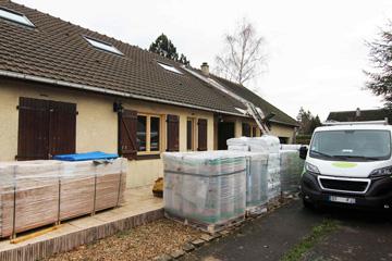 Aménagement des combles de la maison : accès par l'extérieur