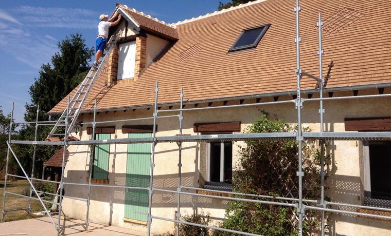 Chantier de rénovation de toiture dans les Yvelines (78)