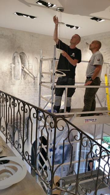 Installation lumière Queinnec