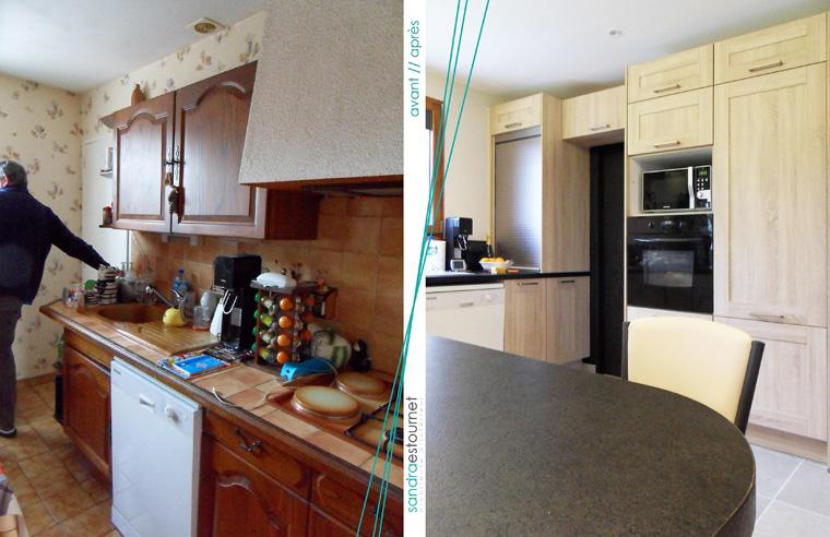 Remplacement de cuisine avant/après
