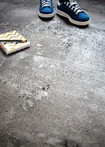 Lino impression ciment